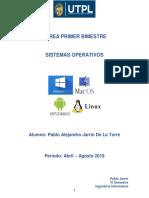 1. Estructura y Uso de Un Sistema Operativo Pajarrin5