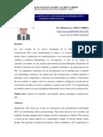 Sociología de La Ciencia en La Tecnología de Información y Comunicación