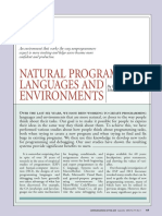 Natural Programming Languages and Environments