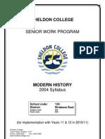 Modern History Work Program 2010 #2