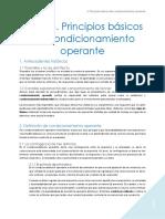 Aprendizaje Tema 4. Principios básicos del condicionamiento operante