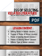 Lesson6 Process of Selecting Related Literature