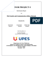 File Transfer and Communication Within a Network Using Socket Programming