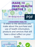 Consumer health 10