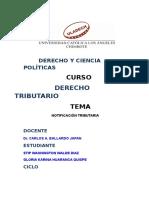 Notificacion Tributaria Exp