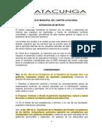 Ordenanza de Turismo Gad Latacunga 2015