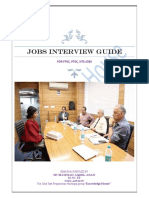 Jobs Interview Guide
