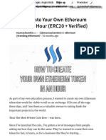 How To Create Your Own Ethereum Token In An Hour (ERC20 + Verified) — Steemit