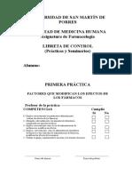 Libreta de Control - Farmacología