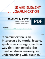 Nature and Element of Communication