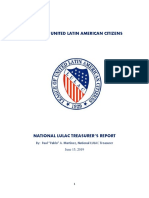 Audit Information- National LULAC Treasurer's Report-6!15!2019