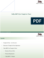 Tally Erp 9 for Temple Trust