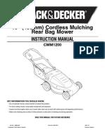 Black and Decker CMM1200 Mower Manual
