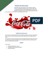Marketing Report of Coco-cola