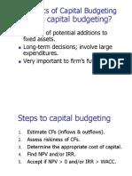 1. CF the Basics of Capital Budgeting
