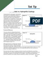 Tek Tips - Hydrophobic vs Hydrophilic
