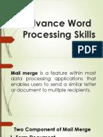 Advance Word Processing Skills