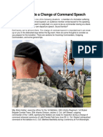 How to Write a Change of Command Speech 2
