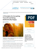 Principles accepting yourself