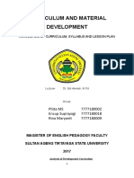 Paper of Analysis of Development Curriculum