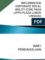 Implementasi Csr Pada Lippo Plaza Llg