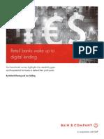 BAIN BRIEF Retail Banks Wake Up to Digital Lending
