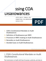 Addressing COA Disallowances