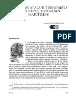 RIESGO DE ATAQUE TERRORISTA A NUESTROS INTERESES MARÍTIMOS