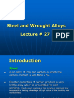 27. Steel and Wrought Alloys