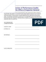 Appendix E Checklist _ Review Performance Audits Performed by OIG September 2014 (1)