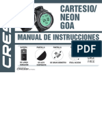 Cressi Goa Cartesio Neon Manual ES