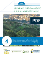 IV. Lineamientos Para La Formulación de UPR