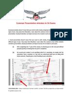 Common Presentation Mistakes in CA Exams