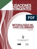 Obligaciones Contingentes - Metodologias Del Caso Colombiano