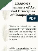 LESSON 8 Elements of Art