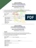 CSU-DLC Form 3 - Absence Form