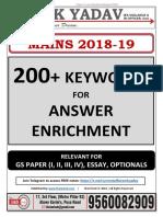 200+ Keywords_Mains 2018_theIAShub_MK Yadav_M