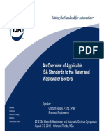 ISA Standards for Water and Wastewater Sectors