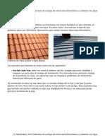 Sistemas de Anclaje de Estructura Fotovoltaica a Cubierta Con Tejas