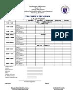 Teachers Program