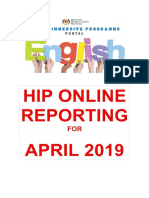 HIP Online Reporting Template April 2019 sk