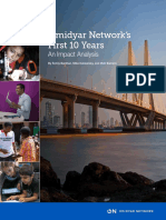 Omidyar Network's First 10 Years an Impact Analysis