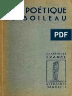 Lart Poétique de Boileau