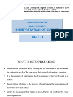 Interpret of Statute