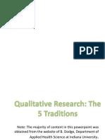 Qualitative -- Part One