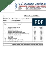 Rincian Uang Muka Rumdin Bintara 50%