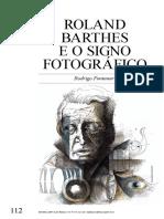 Roland Barthes e o signo fotográfico