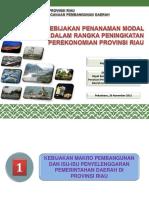 Sinergitas Pengendalian Dan Pengawasan Penanaman Modal Dalam Rangka Meningkatkan Perekonomian Di Provinsi Riau