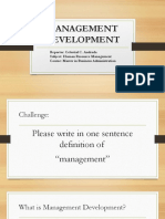 Management Development Report
