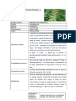 Ficha Técnica de Plantas